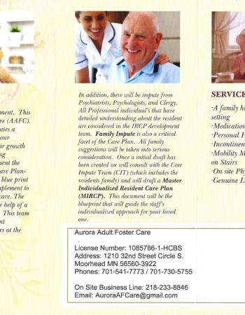 Aurora Adult Foster Care, Moorhead