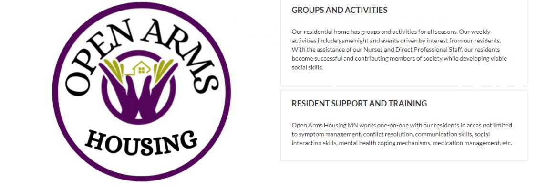 Open Arms Housing, Fridley